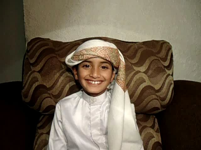 Surat Al-Ikhlas 9 years old named Ahmed