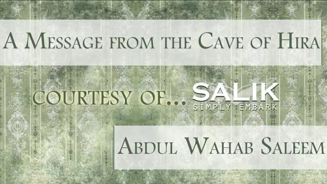 Message from the Cave of Hira