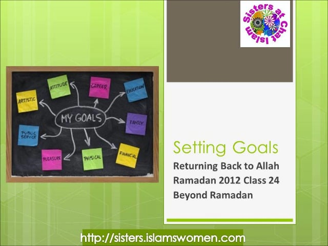 Ramadan 2012 Class 24 for Sisters