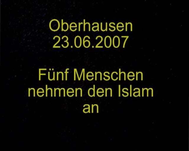 5 Germans Revert to Islam in one Evening!