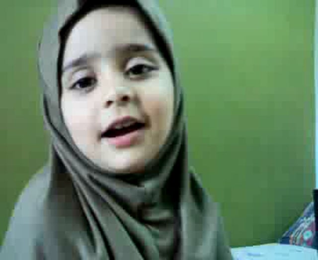 "Little girl reciting ""Yaseen"""