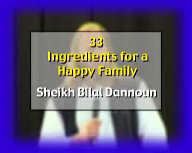 33 ingedients to a happy family