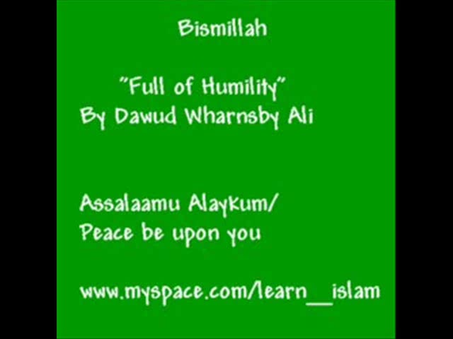 Full of Humility