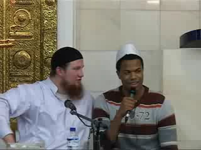 German convert to Islam with English translation