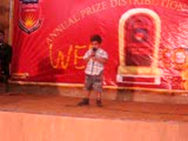 Cute kid recitation