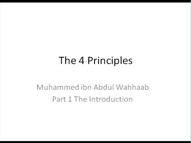 The 4 Principles PART 1/5