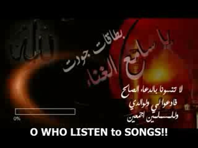 O WHO LISTEN TO SONGS