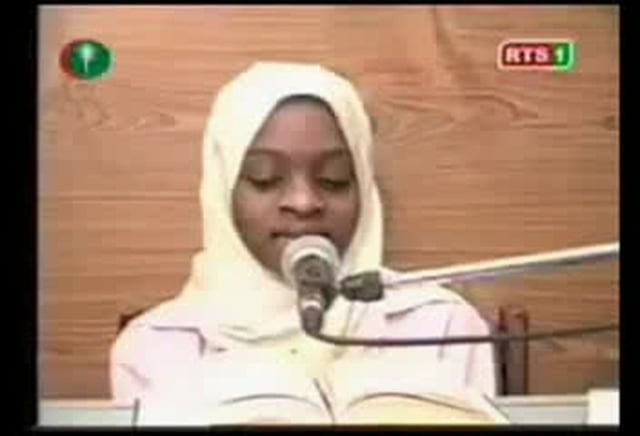A 3rd girl from Senegal reciting Quran