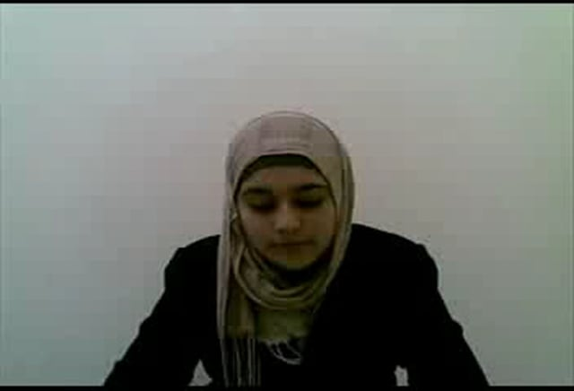 A girl from Palestine reciting Quran