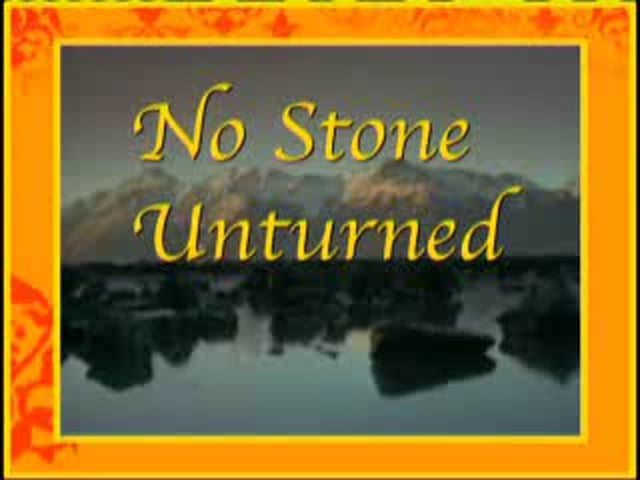 No Stone Unturned Series - Life and Death