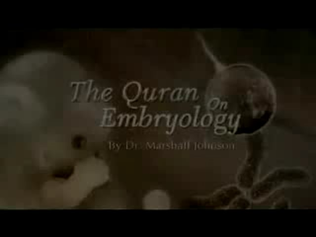 Embryology in Sources of Islam by Dr Marshall Johnson