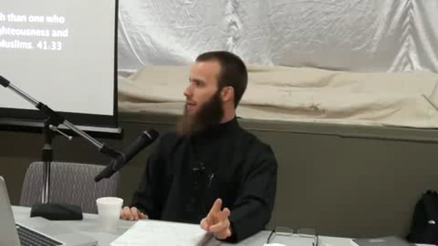 Dawah Workshop Part 2 - Br. Yusha Evans